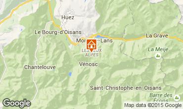 Mapa Les 2 Alpes Apartamentos 58188
