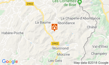 Mapa Morzine Chalé 116537