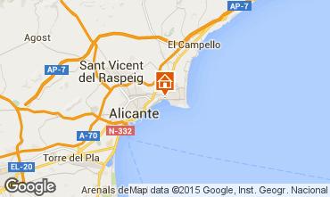 Mapa Alicante Apartamentos 97347