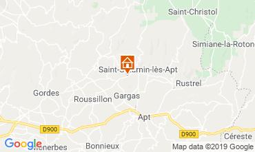 Mapa Saint Saturnin les Apt Casa de turismo rural/Casa de campo 118385