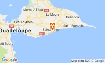 Mapa Sainte Anne (Guadalupe) Apartamentos 108877