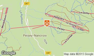 Mapa Peisey-Vallandry Apartamentos 4750