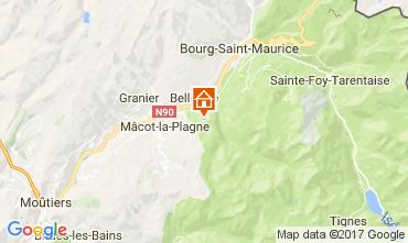 Mapa Montchavin les Coches Chal� 106570