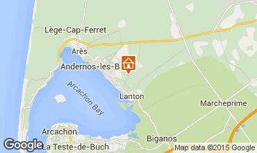 Mapa Andernos les Bains Casa de turismo rural/Casa de campo 91292