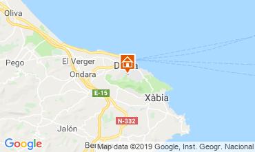 Mapa Dénia Apartamentos 68782