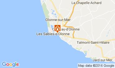 Mapa Les  Sables d'Olonne Apartamentos 76224