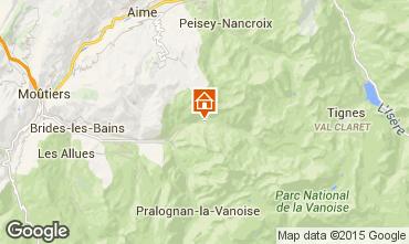 Mapa Champagny en Vanoise Casa de turismo rural/Casa de campo 72915