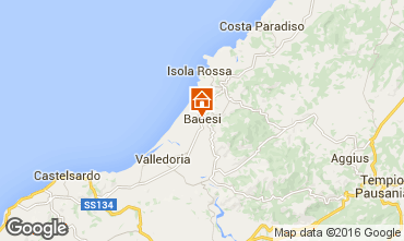 Mapa Badesi Apartamentos 21206