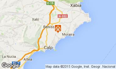 Mapa Benissa Bungalow 54771