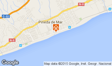 Mapa Pineda de Mar Apartamentos 97967