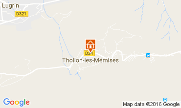 Mapa Thollon Les M�mises Apartamentos 29378