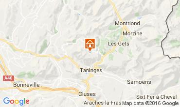 Mapa Praz de Lys Sommand Chalé 2355