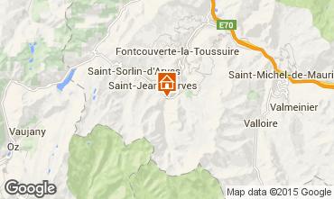 Mapa Saint Jean d'Arves Chalé 2501