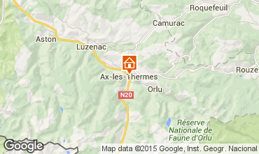 Mapa Ax Les Thermes Est�dio 68397