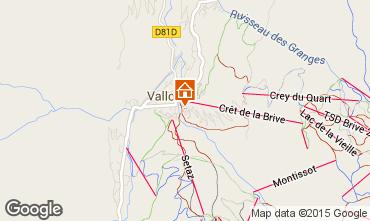 Mapa Valloire Apartamentos 27146