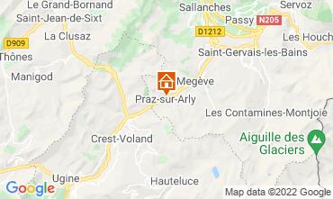 Mapa Praz sur Arly Apartamentos 2299