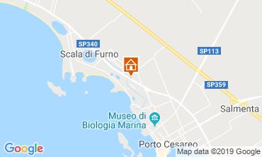 Mapa Porto Cesareo Apartamentos 118084
