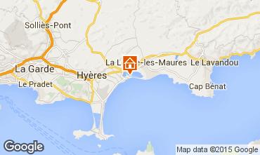 Mapa Hyères Apartamentos 28370