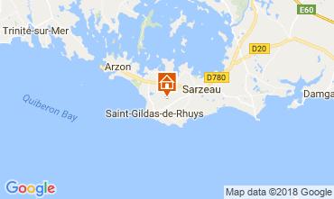 Mapa Saint Gildas de Rhuys Casa 10922