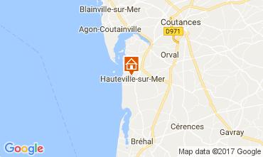 Mapa Hauteville-sur-Mer Casa de turismo rural/Casa de campo 40949