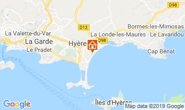 Mapa Hyères Mobil Home 117992