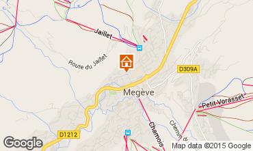 Mapa Megève Apartamentos 1470