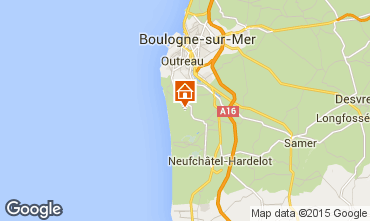 Mapa Equihen-Plage Roulote 99483
