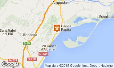 Mapa San Carlos de la Rápita Apartamentos 59540