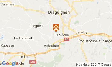 Mapa Les Arcs-sur-Argens Casa de turismo rural/Casa de campo 108268