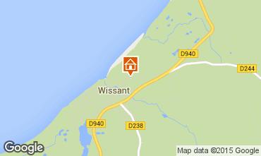 Mapa Wissant Casa de turismo rural/Casa de campo 91863