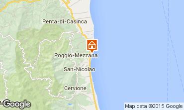 Mapa Moriani Plage Vivenda 7795