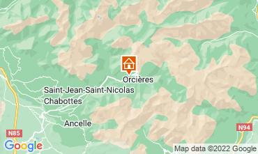 Mapa Orci�res Merlette Casa de turismo rural/Casa de campo 81230