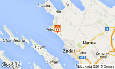 Mapa Zadar Apartamentos 44376
