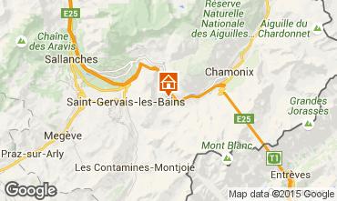 Mapa Chamonix Mont-Blanc Chalé 17589