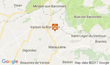 Mapa Vaison la Romaine Casa 110810