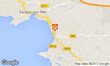 Mapa Sanary Apartamentos 5865