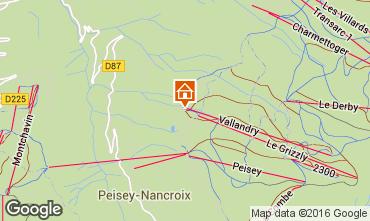Mapa Peisey-Vallandry Apartamentos 102505