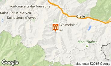 Mapa Valloire Chalé 49295