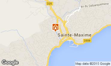 Mapa Sainte Maxime Apartamentos 72096