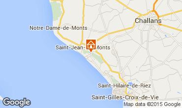 Mapa Saint Jean de Monts Apartamentos 9470