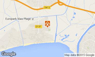 Mapa Vias Praia Mobil Home 68473