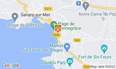 Mapa Sanary Apartamentos 92625
