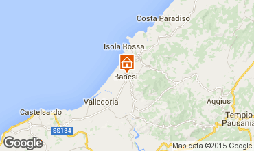 Mapa Badesi Apartamentos 92351