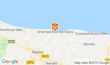 Mapa Arromanches Casa de turismo rural/Casa de campo 90681