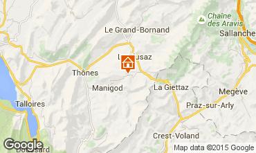 Mapa La Clusaz Apartamentos 28042