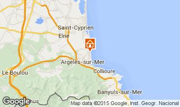 Mapa Argeles sur Mer Apartamentos 69645
