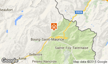 Mapa Les Arcs Apartamentos 91604