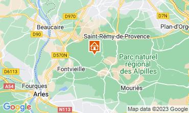Mapa Les Baux de Provence Casa de turismo rural/Casa de campo 13098