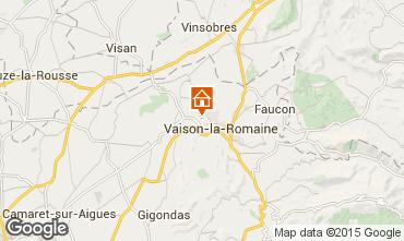 Mapa Vaison la Romaine Casa de turismo rural/Casa de campo 81749