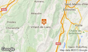 Mapa Villard de Lans - Corrençon en Vercors Chalé 3640